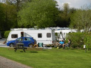 Sitting out by your caravan at Woodland Springs