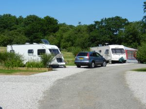 Sunny caravan site dartmoor devon